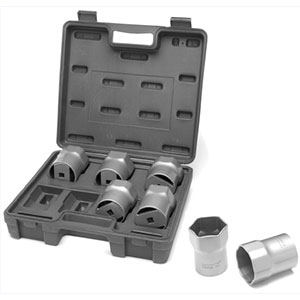 Wheel bearing lock nut socket set